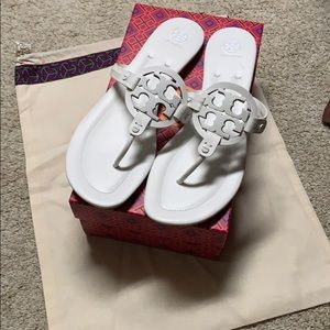 TORY BURCH MILLER 2 WHITE SIZE 13